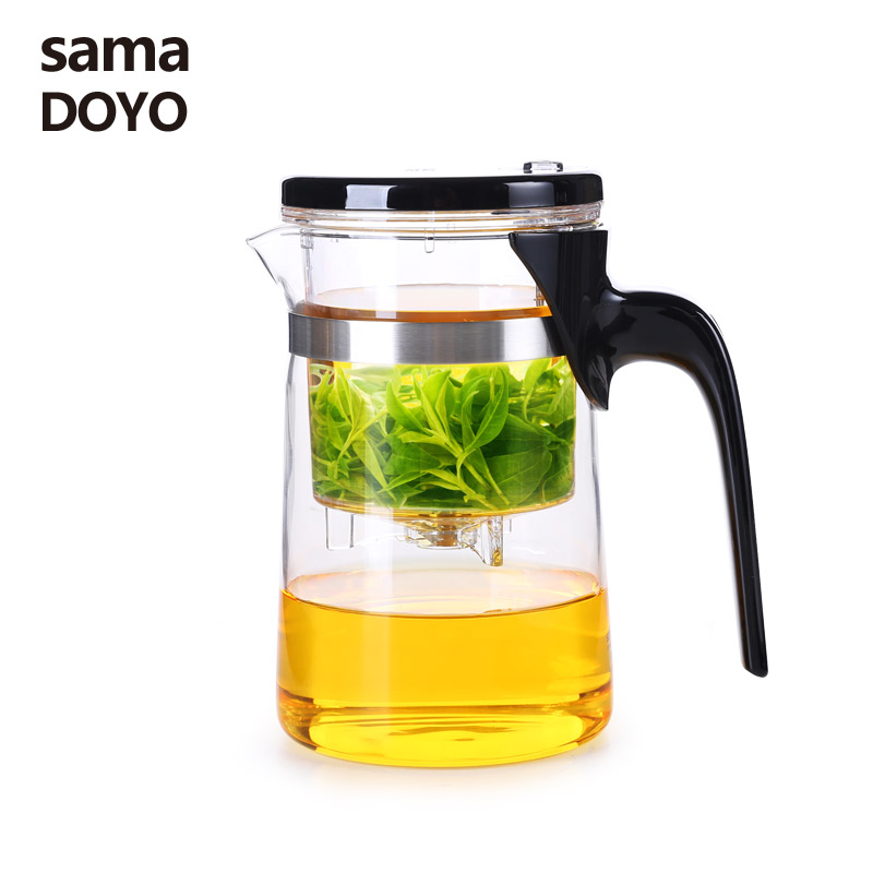 Samadoyo High quality Heat Resistant Glass Teapot Kungfu Tea Set With Infuser Filter Art Tea Chinese Teapot Home Elegant Tea PotSamadoyo High quality Heat Resistant Glass Teapot Kungfu Tea Set With Infuser Filter Art Tea Chinese Teapot Home Elegant Tea Pot