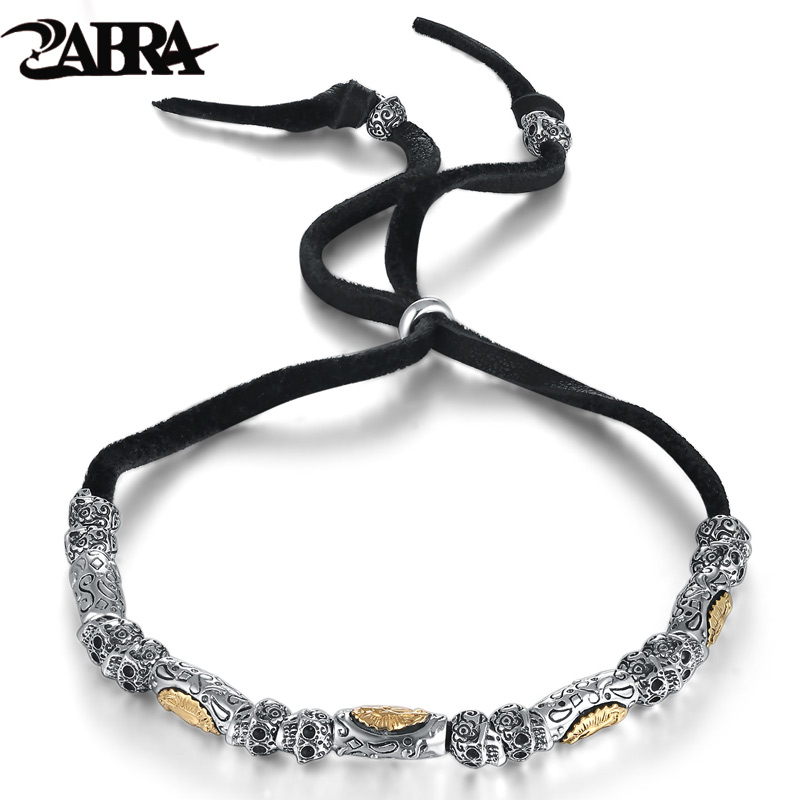 ZABRA 925 Sterling Silver Vintage Skull Religion 6mm Rope Bracelet Men Women Virgin Mary Gold Color Multi Color Bracelets WomenZABRA 925 Sterling Silver Vintage Skull Religion 6mm Rope Bracelet Men Women Virgin Mary Gold Color Multi Color Bracelets Women