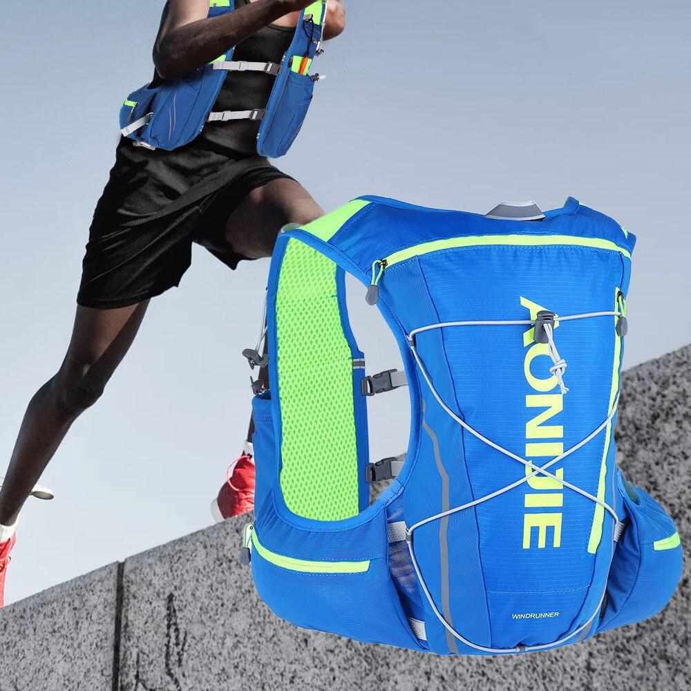 AONIJIE Outdoor Camping Backpack Waterproof Bag Packable Hydration Pack Cross country Race Backpack 13 storage bags 2 Colors