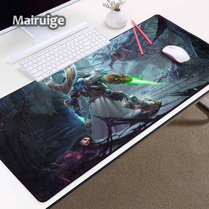Mairuige Cool Pattern Sci-fi Game Art Wallpaper Printed Mouse Pad Mat To Decorate Pc Computer Tabletop and As Gift for Friends