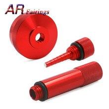 Для генератора Honda eu2000i, расширенная газовая крышка, масляная трубка, магнитный щуп, алюминий, красный, серебристый, черный