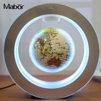 Novelty LED Floating Globe Magnetic Levitation Light AU Plug Black/Gold/Blue