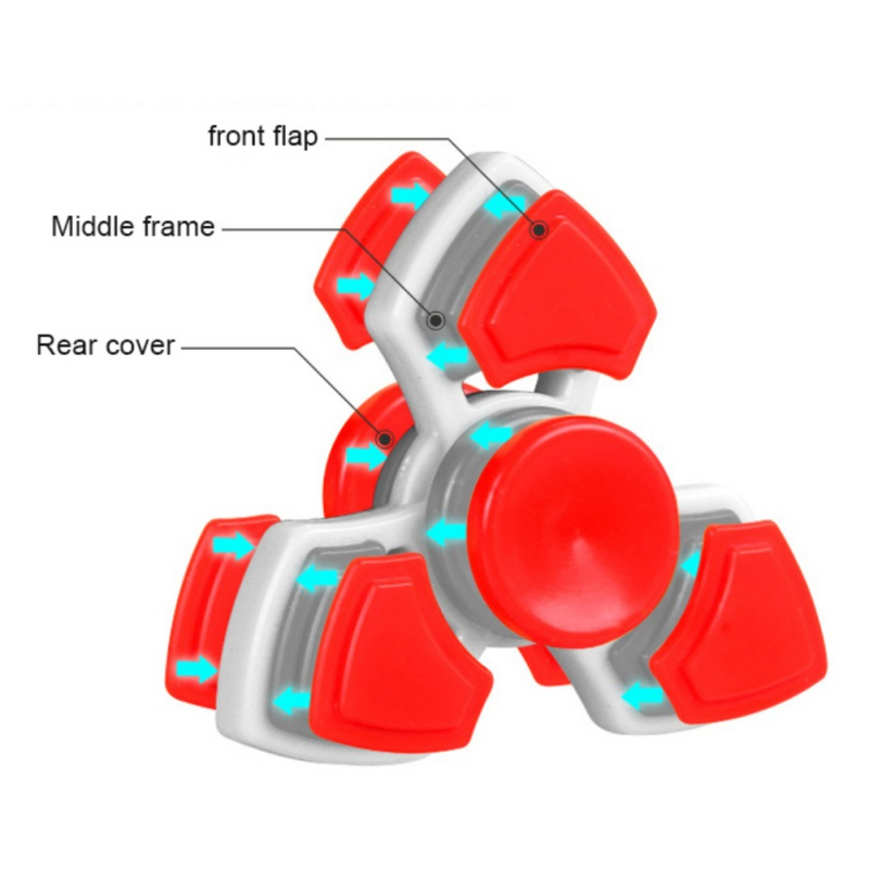 HOT Lighting White Fidget Toy ABS Plastic EDC Hand Spinner For Autism and ADHD Rotation Long Time Stress Relief Toys