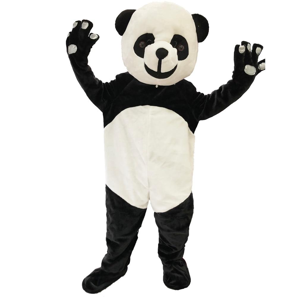 Nouveau Costume de mascotte Panda adulte Costume de mascotte fête de carnaval déguisement vêtements Costume de fête d'halloween