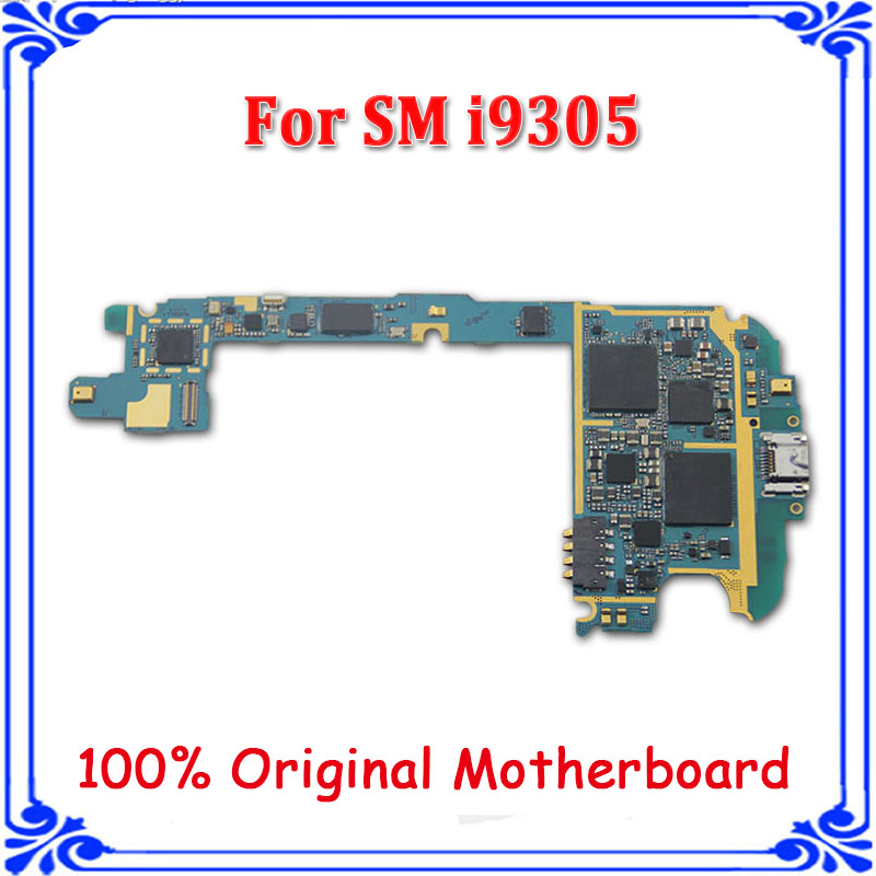 free shipping EU version 16GB unlocked motherboard for samsung S3 I9305 4G LTE original mainboard system board with chips