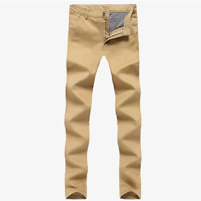 HCXY 2015 nova 5-color maior tamanho dos homens marca de algodão lavado carga calças Magro calça casual calças retas dos homens