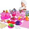 54 Unids Plástico de Frutas Vegetales de Cocina De Corte de Cocina de Juguete Juguete de Desarrollo y Educación Tempranos para Niños Como Regalo de Navidad