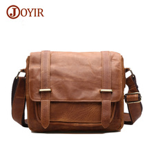 Joyir 2017 crazy horse genuine leather bags for men shoulder bags men's messenger bags vintage men's crossbody bags B350