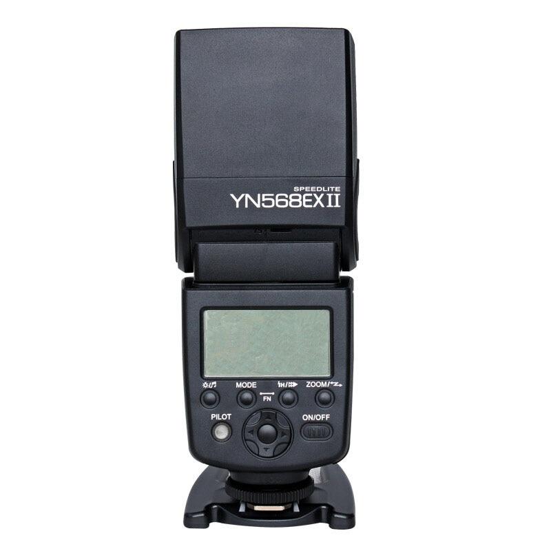 Yongnuo YN568EX II Wirelss TTL Slave Flash Speedlite High-speed Sync Master Flash for Canon 5D Mark III 7D 60D 700D 650D 600D 2x yongnuo yn600ex rt yn e3 rt master flash speedlite for canon rt radio trigger system st e3 rt 600ex rt 5d3 7d 6d 70d 60d 5d