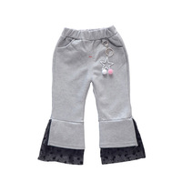 New children's spring wear lace girl trousers female baby fashion spring pants