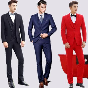 Chorus wedding suits for men blazer boys prom mariage suits fashion slim masculino latest coat pant designs singer stage clothes