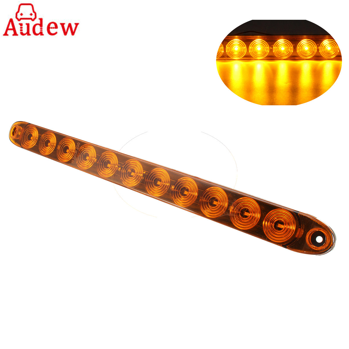 15 Amber Car Side Light 11 LED Tail Turn Signal Clearance Marker Light Bar Submersible for Trailer Truck automobile paired ol jt03 led automobile tail light