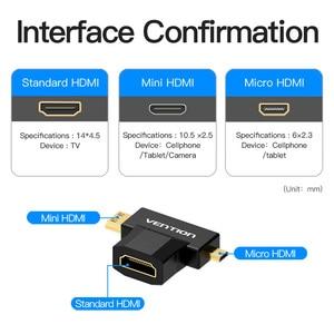 Image 2 - Intervento Mini HDMI/Micro HDMI a HDMI Adattatore Convertitore 2 in 1 3D 1080P Maschio a Femmina per TV Proiettore Monitor Della Macchina Fotografica