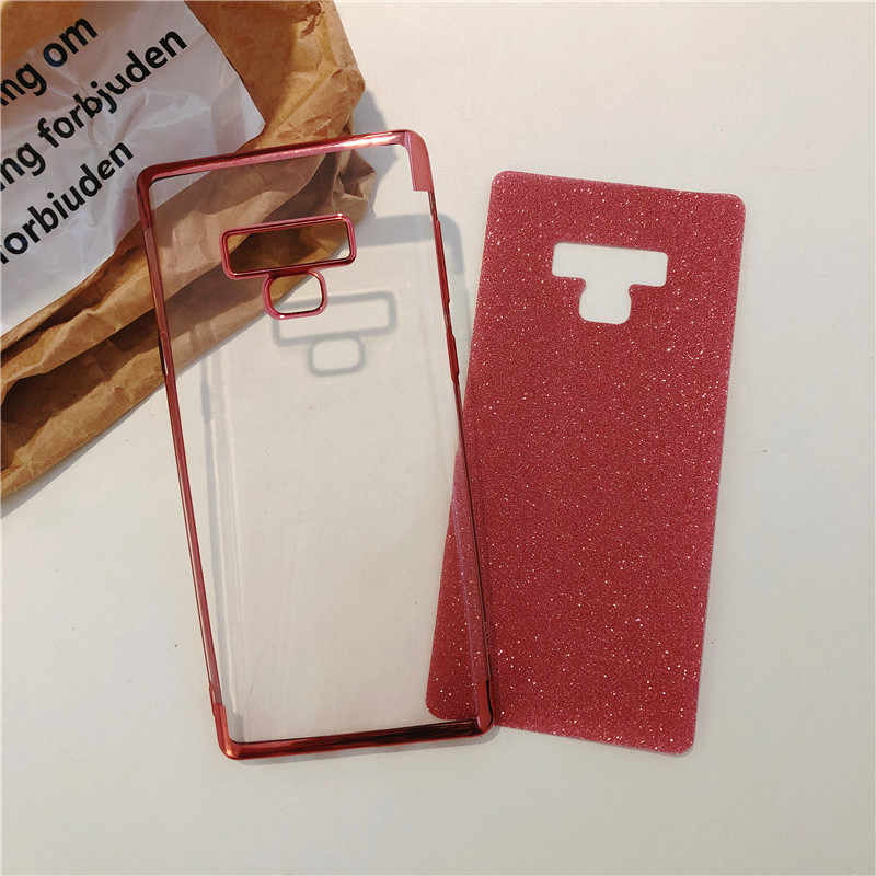 Glitter Back Protective Case For Samsung Note 9 8 S10 S10E S9 S8 Plus Cover A5 A6 A7 A8 2018 M10 M20 M30 A10 A30 A50 TPU Case