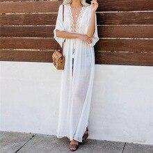 Chiffon Bathing Suits cover up Beach Cardigan Paroe Robe de Plage Beachwear kaftans Long Beach Dress Tunic Womens Swimwear