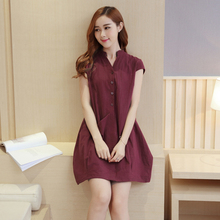 Summer Cotton Nursing Dress Breastfeeding Clothing for Feeding Pocket Nursing font b Clothes b font Breast