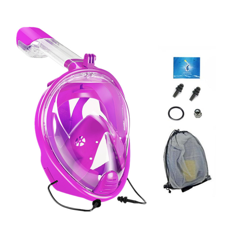 YAHEY Diving Mask New Foldable Compatible Breathing Tube Full Face Anti-fog Swimming Water Sports Equipment Snorkeling For GoPro