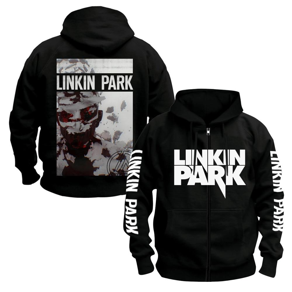 Image 3 - Bloodhoof LINKIN PARK BAND Hoodie Mens ROCK MUSIC black  cotton hoodie Asian SizeHoodies