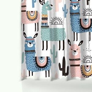 Image 5 - Miracilleการ์ตูนน่ารักรูปแบบAlpacaโพลีเอสเตอร์ผ้าม่านกันน้ำสี่เหลี่ยมผืนผ้าNon Slip Bathชุดผ้าม่าน