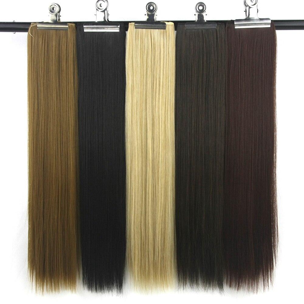 Soowee 22 Цвета Синтетические волосы прямые чёрный; коричневый высокое Температура Волокно Клип В Химическое наращивание волос парики для Для ... ...
