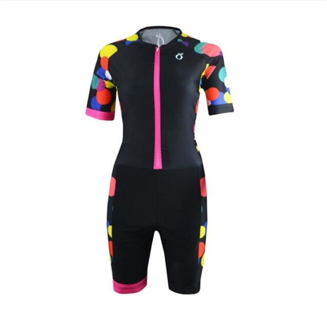 EMONDER Sleeveless Cycling Jersey One-pieces Triathlon Women Quick Dry Breathable Cycling Clothing Bike Short Sleeve Jumpsuit