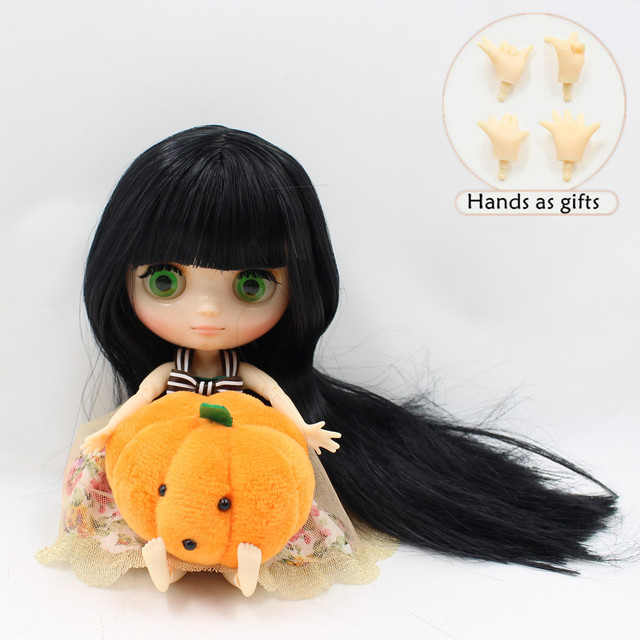 ICY Middie Blythe Doll Jointed Body Black Hair 20cm