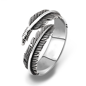 Adjustable Resizable Feathers Women rings 5