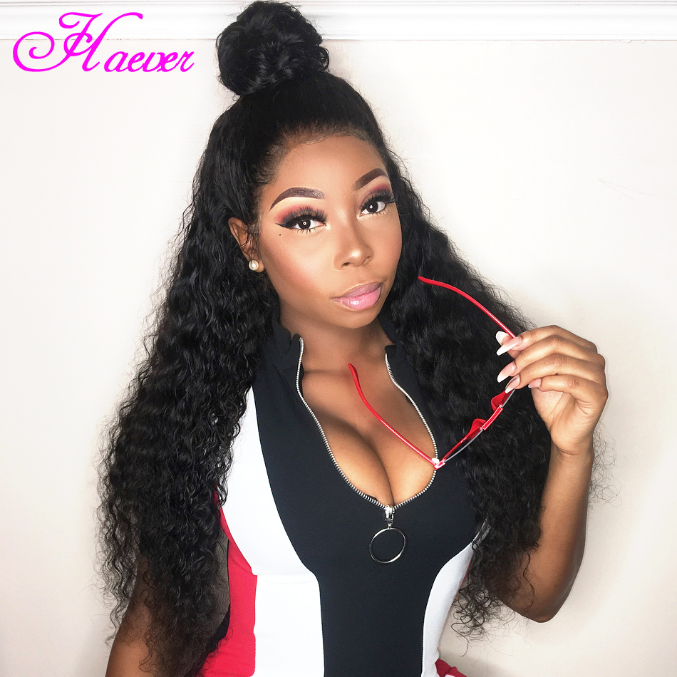 Curly Lace Front Human Hair Wigs Brazilian Deep Wave Remy Hair Wigs For Black Women Long Lace Frontal Wig(China)