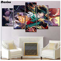 3d Diy Cross Stitch Diamond Painting 5 Piece japan Anime Diamond Mosaic Full square Diamond Embroidery Handmade Needlework decor