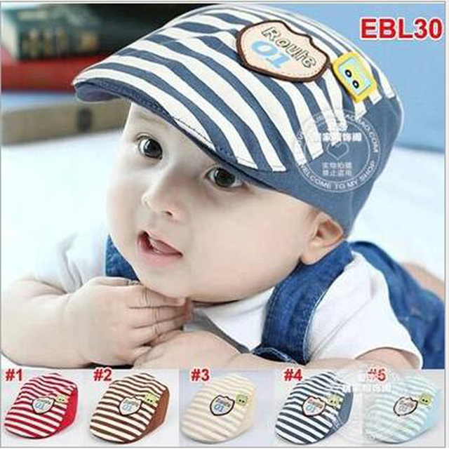 2016 Baby Boy Hat Summer Newborn Boys Hat Cute Baby Boys Cap Cool Infant  Baby Berets Handsome Sun Baby Summer Hats a5673613089