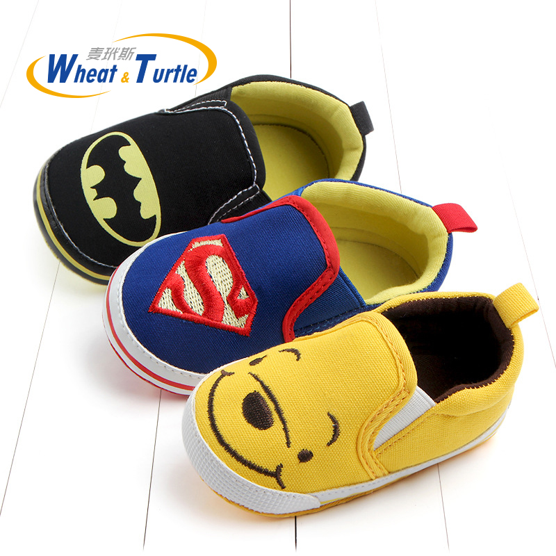 2018 Mother Kids Baby Shoes First Walkers Cartoon Baby Boy Girls Shoes Bebe Toddler Moccasins 0-24M Non-slip Soft Bottom Shoes