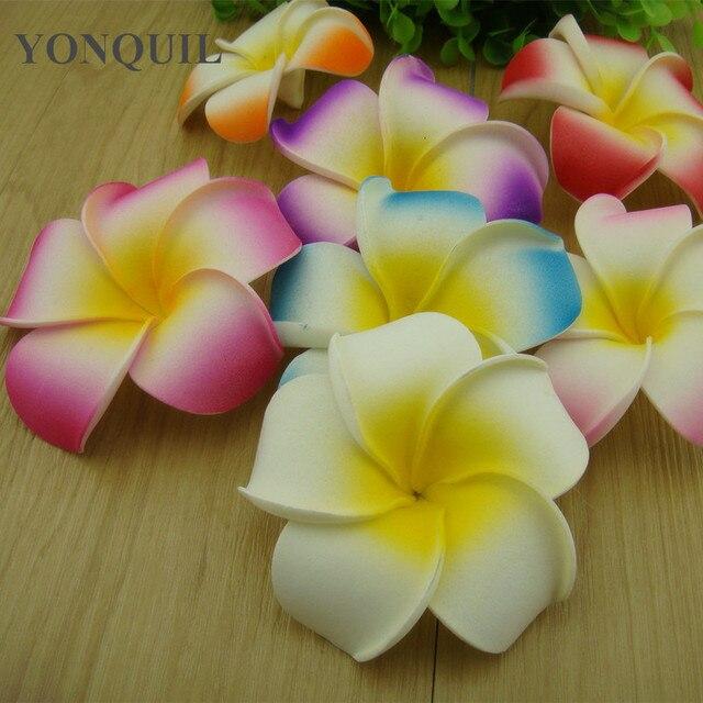 Livraison Gratuite 9 Cm 7 Couleurs Mousse Hawaiian Plumeria Fleur De