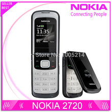 Refurbished Original 2720F Nokia 2720 Fold Unlocked Cell Phone Bluetooth Jave One Year Warranty Free Shipping