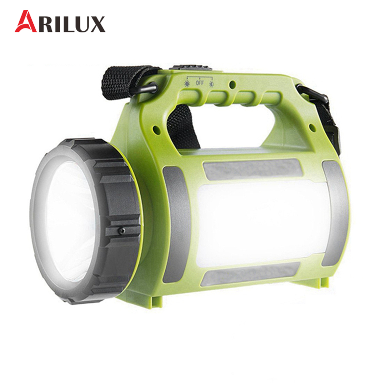 ARILUX Camping Lantern LED Spotlight 5Modes Multi-functional Waterproof 2000mAh Power Bank Rechargeable Hiking Emergency s what bullet head style 2000mah mobile power bank white blue