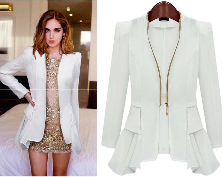 Business-Ready Blazers for Women If there's one piece of clothing that can create a profound difference in your outfit, you can count on the venerable blazer. Pop one on over a blouse and dark denim to transform from casual elegance to office-ready professionalism.