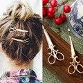 1 Pc 2016 new charm sweet gold / silver scissors-shaped hairpin bridal hair accessories wedding hair accessories, hair clips