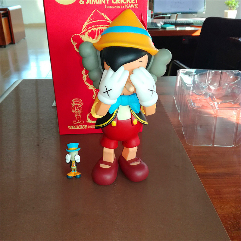 d9080772 Hot Sell OriginaFake Kaws Companion Pinocchio&Jiminy Cricket Stand/Sit PVC  Anime Action Figures With Box zy538-in Action & Toy Figures from Toys &  Hobbies ...