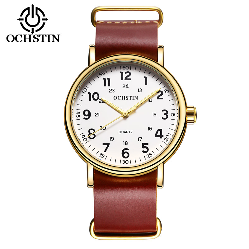 2017 Nieuwe Lederen OCHSTIN Horloges Mannen Top Luxe Merk Hot Ontwerp - Herenhorloges - Foto 2