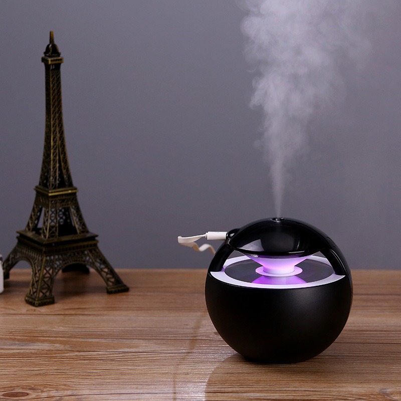 2018 New 450ML Ball Humidifier with Aroma Lamp Essential Oil Ultrasonic Electric Aroma Diffuser Mini USB Air Humidifier Fogger diffuserlove usb air humidifier 450ml ball humidifier with aroma lamp essential oil ultrasonic electric aroma diffuser fogger