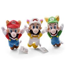 3 pcs/lot Anime Super Mario Bros Flying Apsaras Mario Peluche Doll Plush Soft Stuffed Baby Toy Great Christmas Gift For Children 40cm high quality super mario bros mario luigi stuffed plush dolls soft toys gift for children big size 2pcs lot free shipping