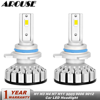 AROUSE 9012 LED Car Headlights 50W 12000LM Auto Headlamp Bulbs H1 H3 H4 H7 H11 9005 9006 Car Led Auto Headlight Fog Light DC12v