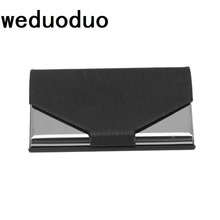 Weduoduo business card case stainless steel Aluminum Holder Metal Box Cover Credit Men holder metal Wallet