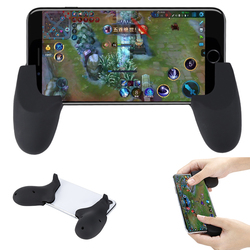 Durable Smartphone Gaming Handle Grip Controller for Tablet iPad IOS Andriod Games Game Holder black