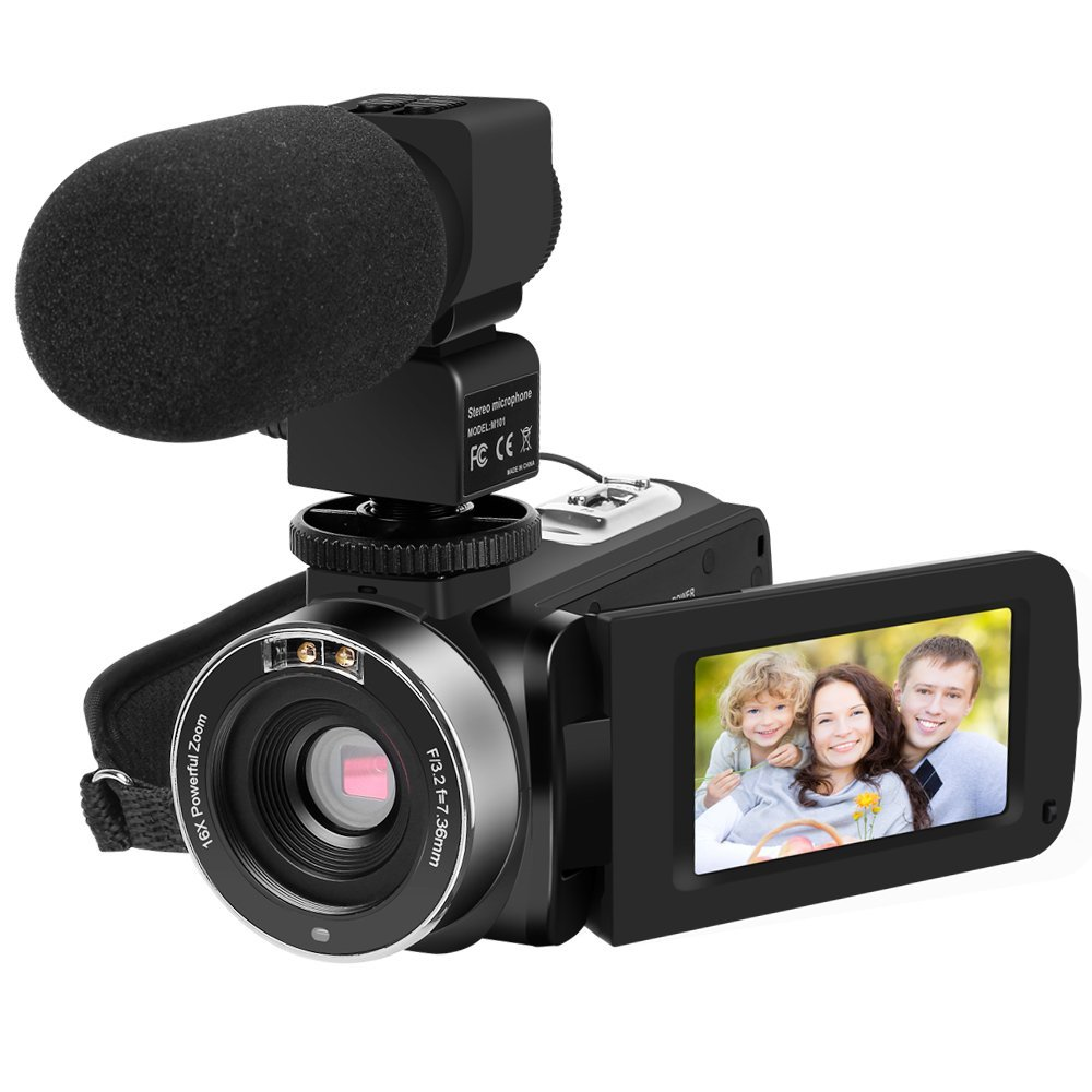 HDV-301STRM Full HD 1080P Touch Screen Digital Video Camcorder Fotografica Professional Camera with Microphone Rotatable Screen