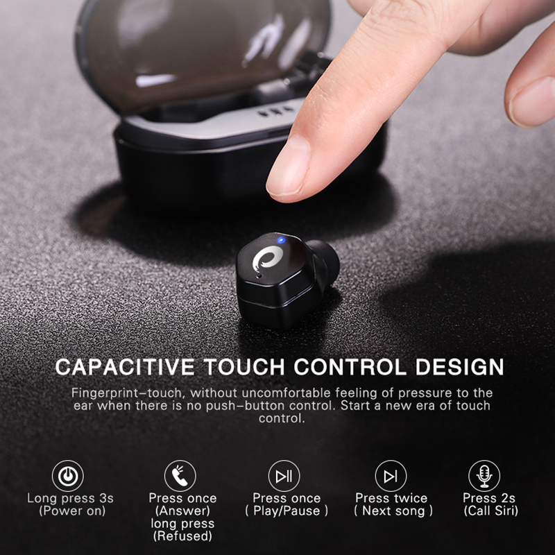 Bluetooth V4 2 Wireless Headset with Charging Box Mini TWS Touch Control Bluetooth Earphones Earbuds for Phone YZ186 in Phone Earphones Headphones from Consumer Electronics