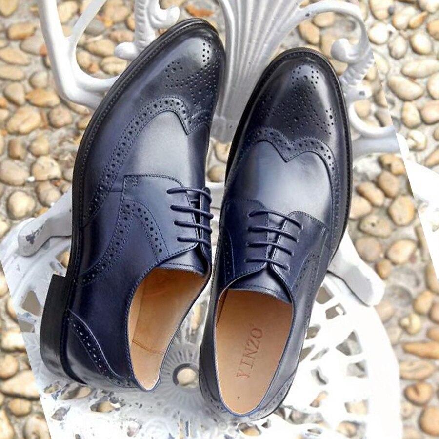 Zapatos formales de cuero oxford para hombre, zapatos de oficina para hombre, zapatos de oficina para hombre, zapatos para hombre, zapatos de boda hombre-in Zapatos formales from zapatos    3