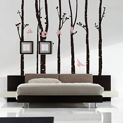 246*230 настенные декорации с изображением лесных птиц DIY художественная Настенная Наклейка для детской комнаты гостиная спальня ТВ фон обои ... - 3