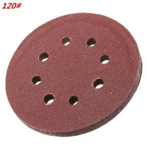 Image 2 - 60 Pieces 8 Holes 5 Inch Sanding Discs Hook and Loop 60/100/180/240/320/400 Grit Sandpaper Assortment for Random Orbital Sander