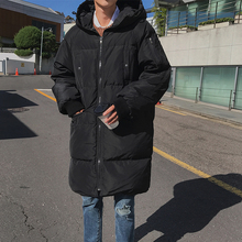 Inverno 17 Winter Fashion Warm Long Hat Cotton-padded Clothes Hombre Full Cotton Loose Coat Casaco Masculino Casual Parka Men