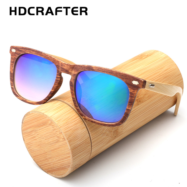 HDcrafter Bamboo Sunglasses Men